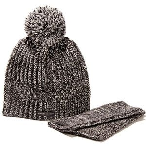 Marbled Beanie and Armwarmer Set